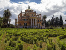 Cinese Palazzina en zijn tuin Royalty-vrije Stock Foto