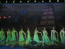 Cinese Tang Dynasty Performance Immagini Stock Libere da Diritti