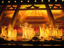 Cinese Tang Dynasty Performance Immagine Stock