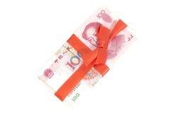 Cinese Yuan Money Gift Fotografia Stock