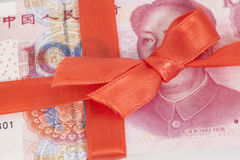 Cinese Yuan Money Gift Immagini Stock
