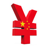Cinese Yuan Symbol Fotografia Stock