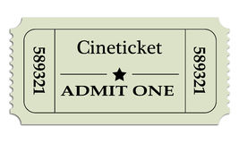 Cineticket Photographie stock