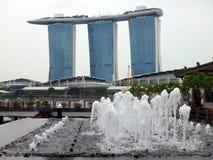 Cingapura Vista das construções modernas Fotografia de Stock
