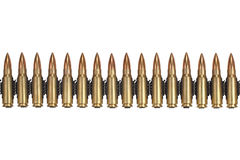 Cinghia delle munizioni fotografia stock