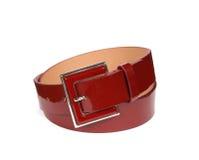 Cinghia di cuoio rossa Fotografia Stock