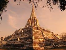 Cinghia di Wat Phu Khao in Ayutthaya Immagine Stock Libera da Diritti