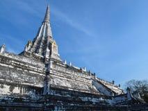 Cinghia di Wat Phu Khao in cielo blu Fotografia Stock Libera da Diritti