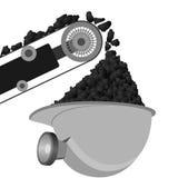 Cinghia e casco dei minatori delle miniere di carbone illustrazione di stock