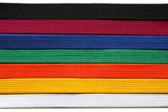 Cinghie del Taekwondo fotografia stock libera da diritti