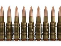 Cinghie della mitragliatrice (percorso di ritaglio incluso) Fotografia Stock Libera da Diritti