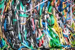 Cinghie di plastica usate per riciclare immagine stock