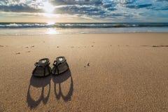 Cinghie sulla spiaggia Fotografia Stock Libera da Diritti