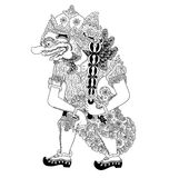Cingkarabala. A character of traditional puppet show, wayang kulit from java indonesia stock illustration