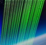 Cinglement de site utilisant la coquille de coup d'UNIX Ligne interface verte de code aux commandes image libre de droits