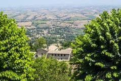 Cingoli (Macerata) - Panorama Stock Photo
