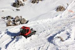 Cingolo della neve La montagna di Nebelhorn nell'inverno Alpi, Germania Fotografia Stock Libera da Diritti