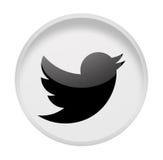 Cinguettio sociale di media su bianco Fotografie Stock