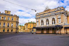 Ciniselli Circus - first stone-built circus in Russia (1877) Royalty Free Stock Image