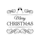 Cink glasses. Merry Christmas and Happy New Year Greeting Card, Vector Stock Images
