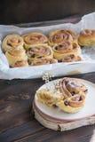 Cinnabon buns royalty free stock photos