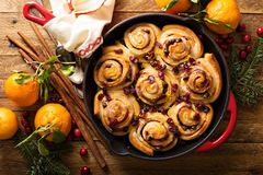 Cinnabon buns with cranberry and orange glaze Stock Photography