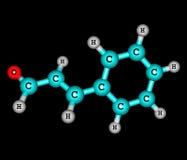 Cinnamaldehyde molecule isolated on black Royalty Free Stock Photography