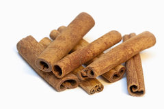 Cinnamon. Sticks of cinnamon isolated on white background Royalty Free Stock Photo