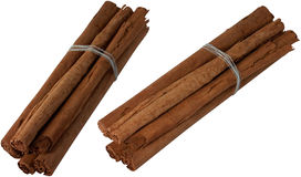 Cinnamon. Stick spices on white background Stock Photography