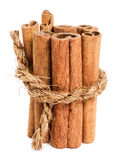 Cinnamon. Bunch of cinnamon on white abckground Stock Images