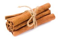 Cinnamon. Sticks studio isolated on white background Royalty Free Stock Photo