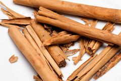 Cinnamon. A key ingredients in Malay, Malaysian, Asian cooking Royalty Free Stock Photos