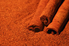 Cinnamon. Background royalty free stock photography
