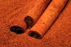 Cinnamon. Background stock photo