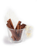 Cinnamon. Sticks in glass Royalty Free Stock Photo
