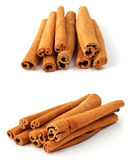 Cinnamon. Sticks in two views Stock Images