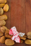 Cinnamon with almonds Stock Image