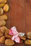 Cinnamon with almonds Stock Image