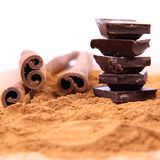 Cinnamon And Chocolate Stock Photo