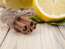 Cinnamon And Lemon Stock Photo