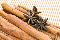 Cinnamon and anice Stock Images