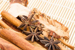 Cinnamon and anice Stock Photos