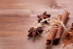 Cinnamon and anis Royalty Free Stock Photos
