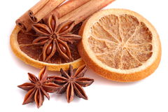 Cinnamon and anise Royalty Free Stock Photography