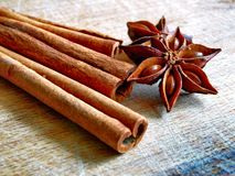 Cinnamon & Anise Stock Images