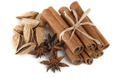 Cinnamon, anise and almond Stock Photos