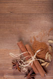 Cinnamon, anise, cardamom Royalty Free Stock Photos