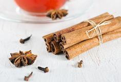 Cinnamon, anise and cloves Royalty Free Stock Image