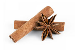 Cinnamon and anise Stock Photo