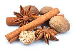 Cinnamon, anise, nutmeg. Royalty Free Stock Image